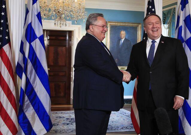 ABD Dışişleri Bakanı Mike Pompeo, Yunan mevkidaşı Nikoz Kocias ile görüştü