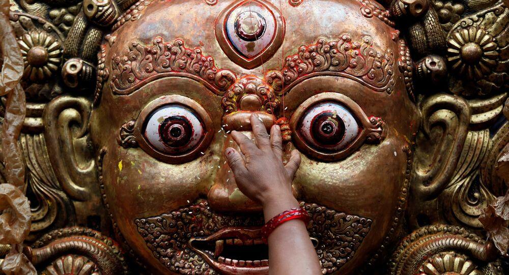 Hindu tanrisi Vishnu