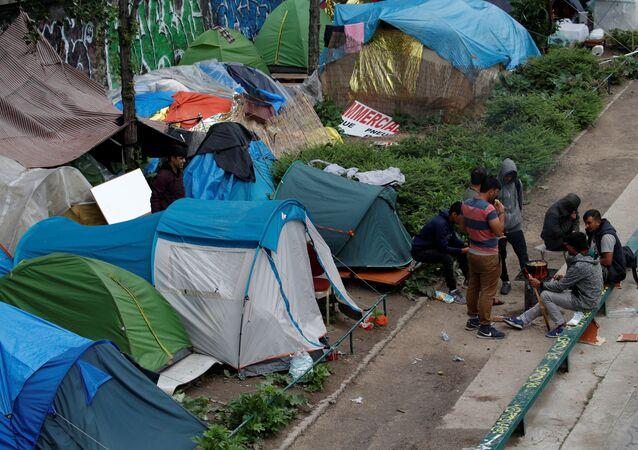 Fransa'da sığınmacı kampı