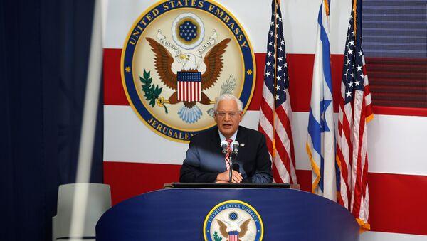 ABD'nin Kudüs Büyükelçiliği açılışı, Büyükelçi David Friedman - Sputnik Türkiye