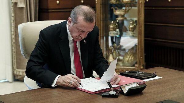 Erdoğan, imza - Sputnik Türkiye