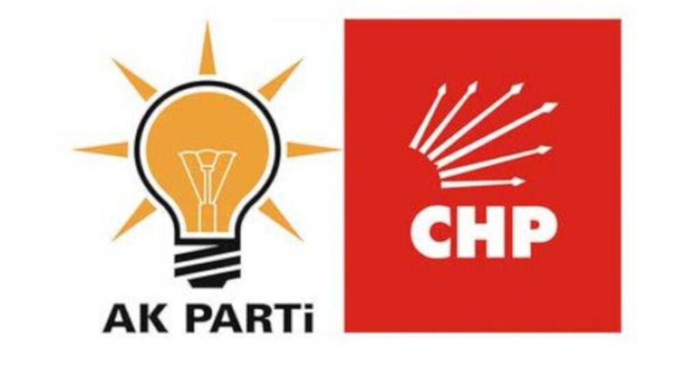 Ak Parti ve CHP logoları