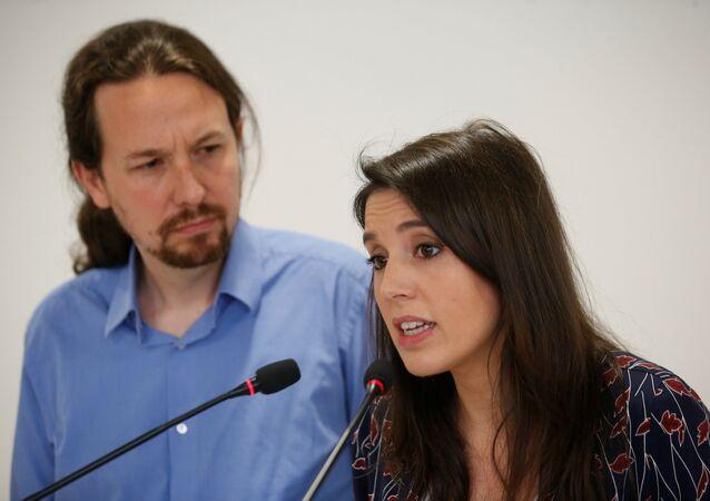 İspanya, Podemos'un lideri Pablo Iglesias ile meclis sözcüsü Irene Montero
