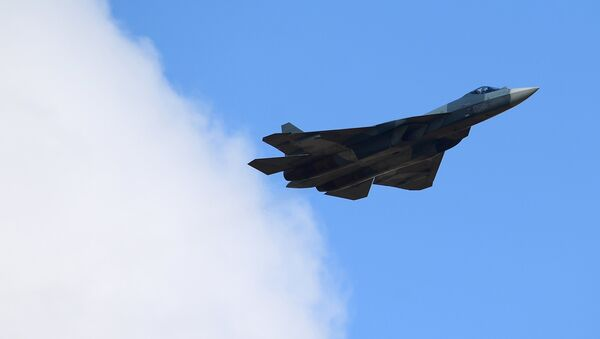 Su-57 multipurpose jet fighter - Sputnik Türkiye