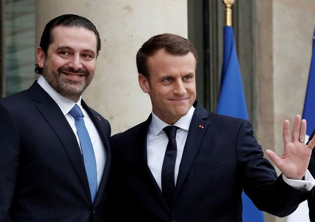 Macron, Hariri'yi 18 Kasım 2017'de Elysee Sarayı'nda karşıladı.
