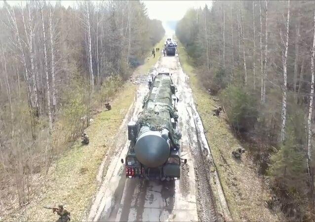 Rusya Stratejik Füze Kuvvetleri'nden Yars füzeli askeri yarışma