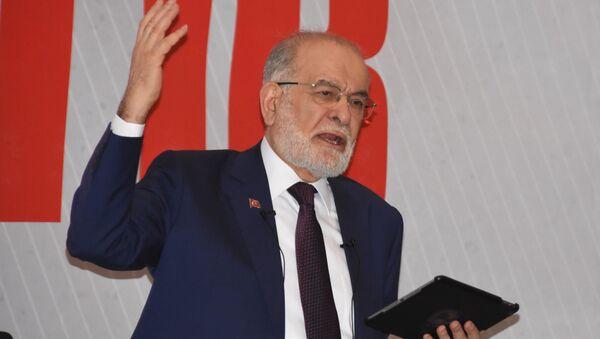 Saadet Partisi Genel Başkanı ve cumhurbaşkanı adayı Temel Karamollaoğlu - Sputnik Türkiye