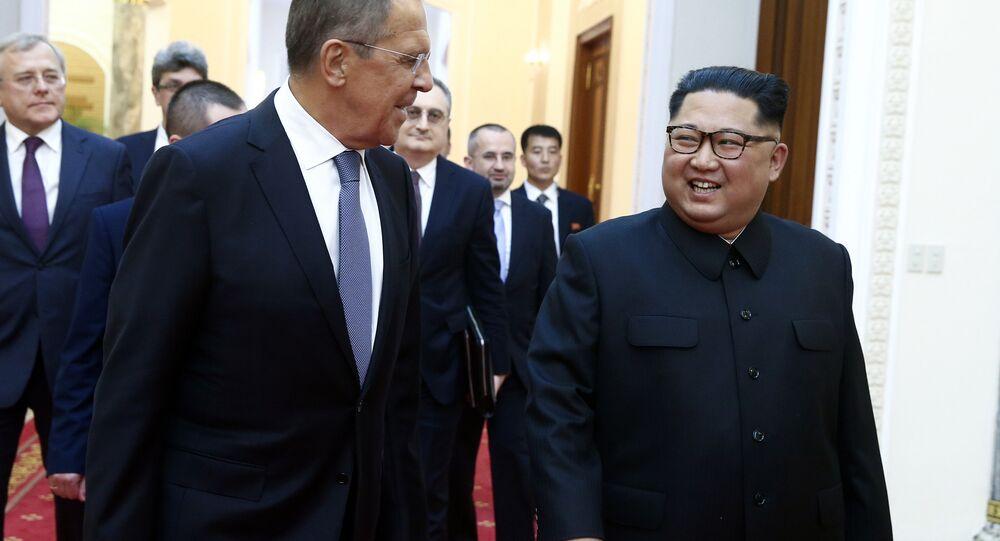 Kuzey Kore lideri Kim Jong-un- Rusya Dışişleri Bakanı Sergey Lavrov