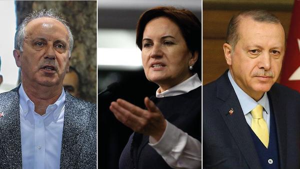 Muharrem İnce - Meral Akşener -Recep Tayyip Erdoğan - Sputnik Türkiye