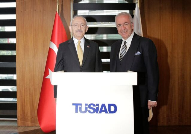 CHP Genel Başkanı Kemal Kılıçdaroğlu -Türk Sanayicileri ve İş İnsanları Derneği Başkanı Erol Bilecik