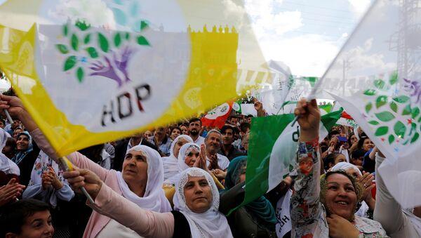 HDP seçmeni, bayrağı - Sputnik Türkiye