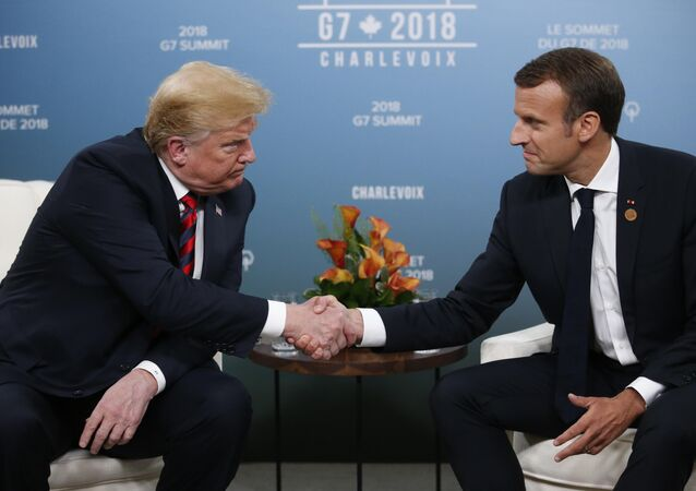 ABD Başkanı Donald Trump ve Fransa Cumhurbaşkanı Emmanuel Macron