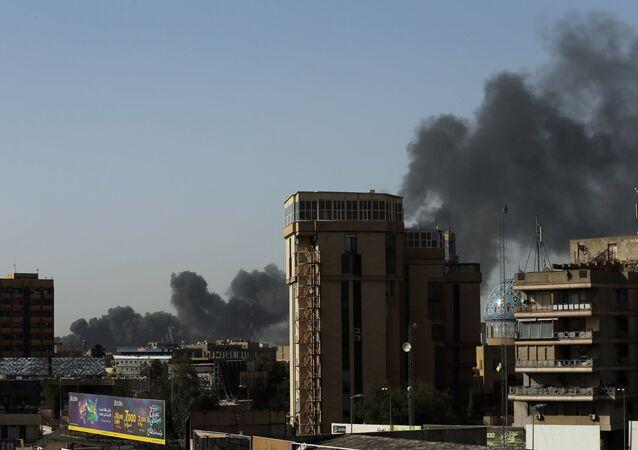 Irak Bağdat'ta seçim sandıkları yandı