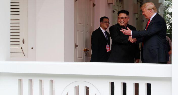 Zirvenin yaklaşık 48 dakika süren ilk ayağı sona erdi. Heyetler arası görüşmeye geçmeden önce kısa bir açıklama yapan Trump, ikili görüşmenin çok iyi gittiğini söyleyip Muhteşem bir ilişkimiz var dedi