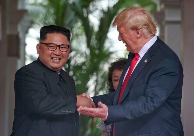 Kuzey Kore lideri Kim Jong-un- ABD Başkanı Donald Trump