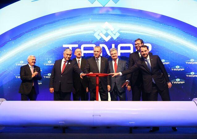 TANAP'ta ilk gaz akışı Erdoğan, Aliyev, Akıncı, Vucic ve Poroşenko'nun katılımıyla gerçekleşti