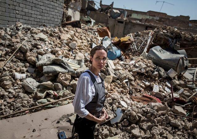 Oscar ödüllü oyuncu ve Birleşmiş Milletler Mülteciler Yüksek Komiserliği (BMMYK) İyi Niyet Elçisi Angelina Jolie