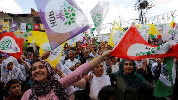 HDP bayrağı, seçmeni - Sputnik Türkiye