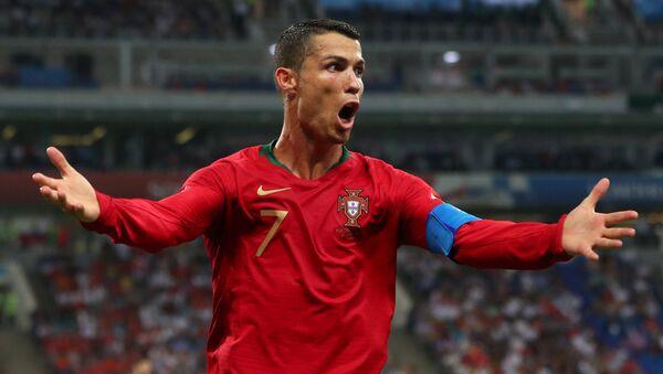 2018 FIFA Dünya Kupası'daki Portekiz-İspanya maçında Cristiano Ronaldo - Sputnik Türkiye