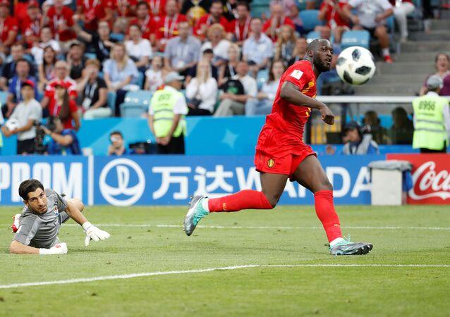 2018 FIFA Dünya Kupası'nda Belçika-Panama maçı, Romelu Lukaku 3. golü attı.