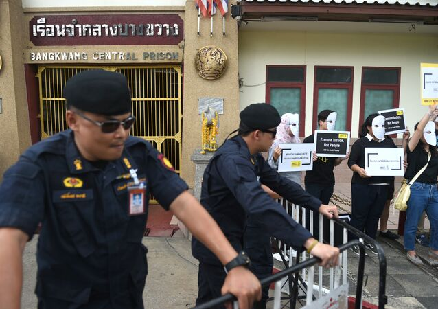 Tayland'daki idama Uluslarası Af Örgütü eylemcileri tepki gösterdi