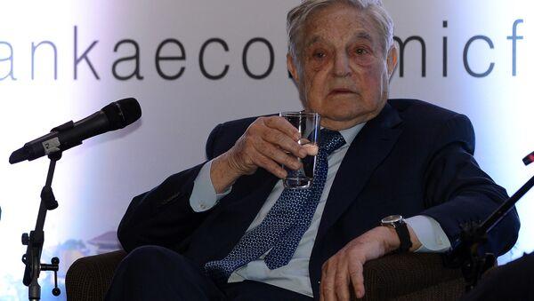 Macaristan doğumlu ABD'li George Soros bir ekonomik forumda - Sputnik Türkiye