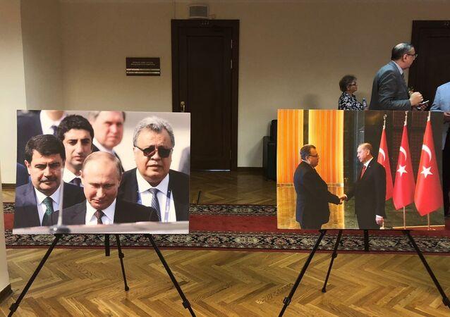 Rusya parlamentosunun alt kanadı Duma'daki 'Andrey Karlov. Sonsuzluğa giden yol' isimli sergi