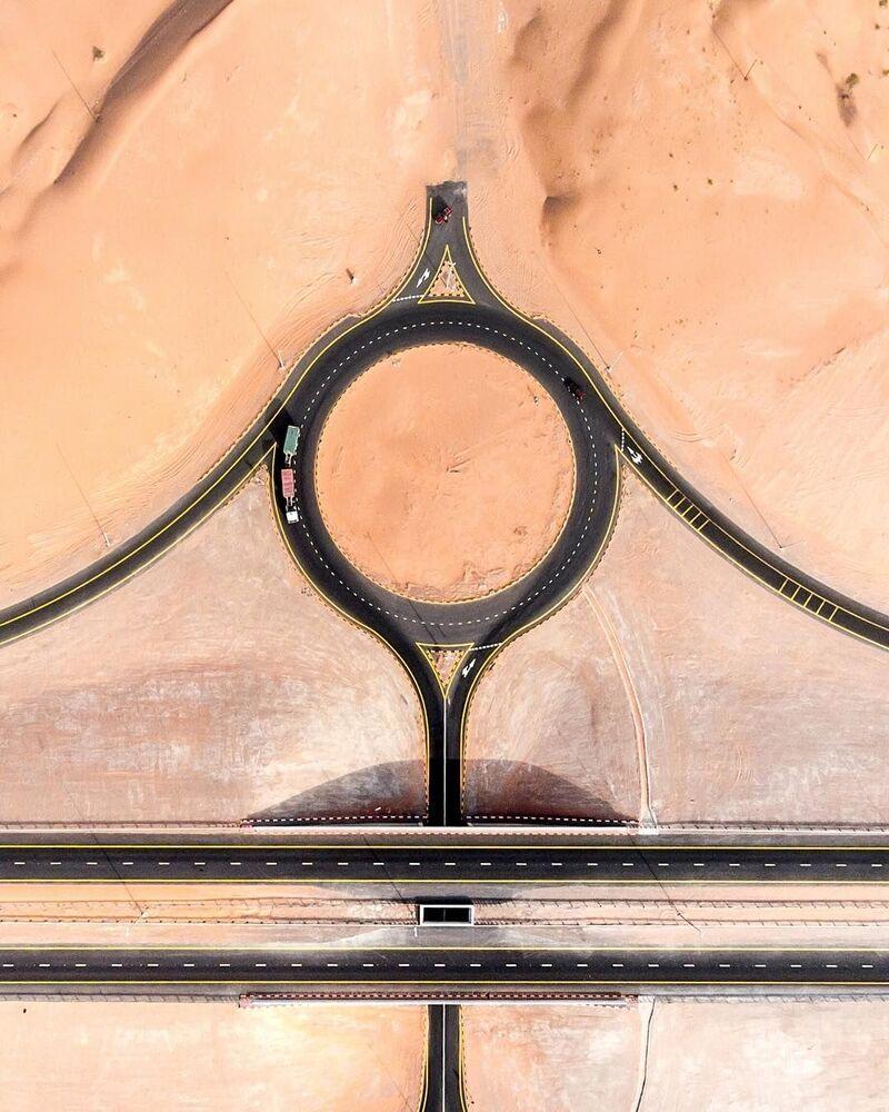 BAE'de drone ile çekilen çarpıcı fotoğraflar