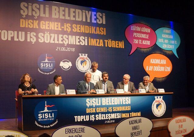 Şişli Belediyesi ve DİSK Genel-İş Sendikası toplu iş sözleşmesi