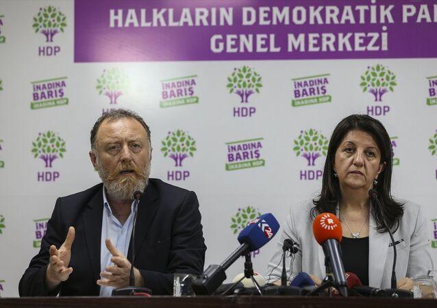 HDP Eş Genel Başkanları Pervin Buldan (sağda) ve Sezai Temelli (solda)