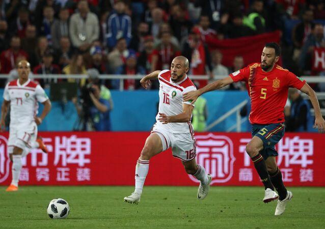 Футбол. ЧМ-2018. Матч Испания - Марокко