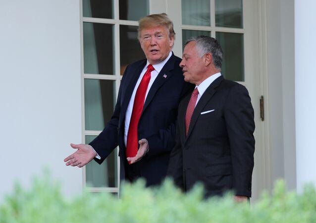 ABD Başkanı Donald Trump ve Ürdün Kralı 2. Abdullah