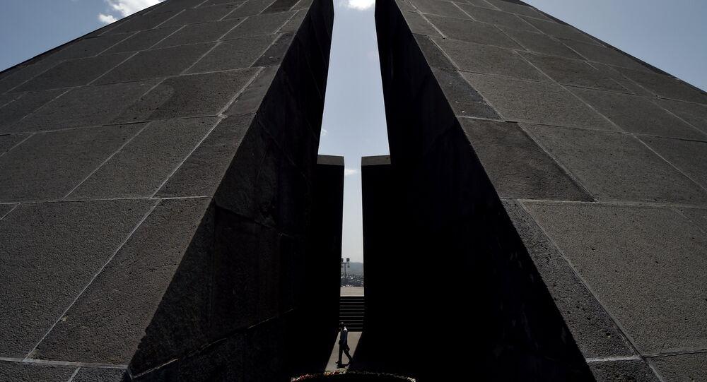 Ermenistan'ın başkenti Erivan'daki Soykırım Anıtı