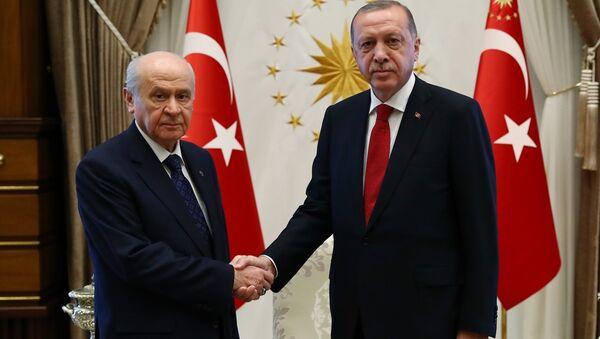 Erdoğan - Bahçeli - Sputnik Türkiye