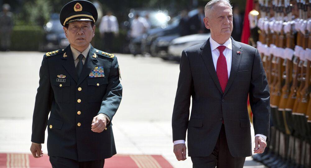 ABD Savunma Bakanı James Mattis- Çin Savunma Bakanı Wei Fenghe
