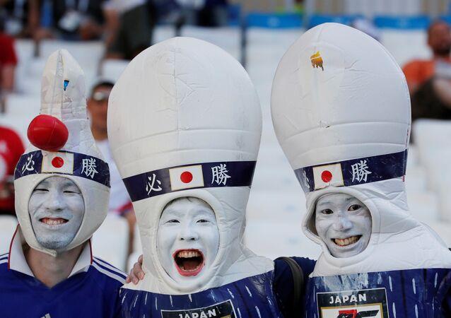 2018 FIFA Dünya Kupası'nda Japonya - Polonya maçı, Japon taraftarlardan renkli görüntüler