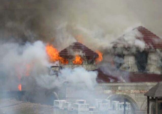 Beykoz'da çıkan yangında Diriliş Ertuğrul dizisinin set dekorları tamamen yandı