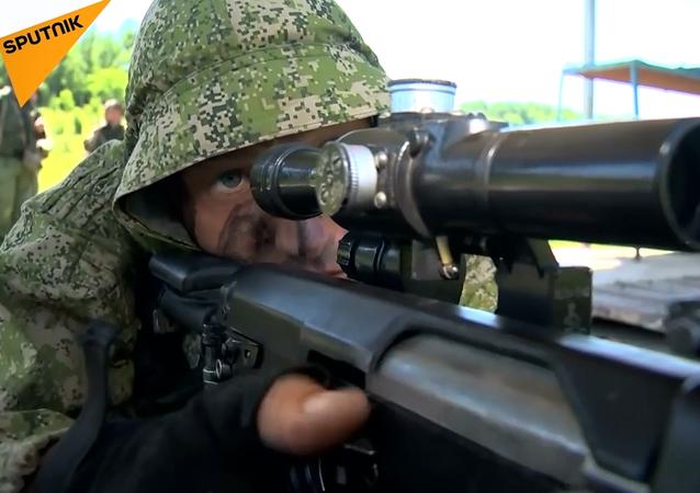 Rus Silahlı Kuvvetleri'nden keskin nişancıların katılımıyla taktiksel tatbikat