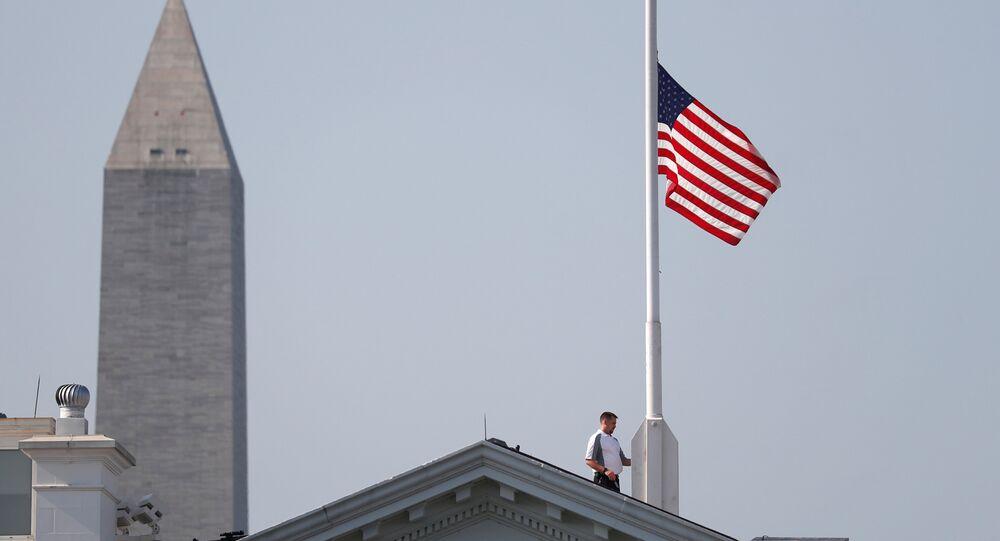 ABD bayrak yarıya indirildi
