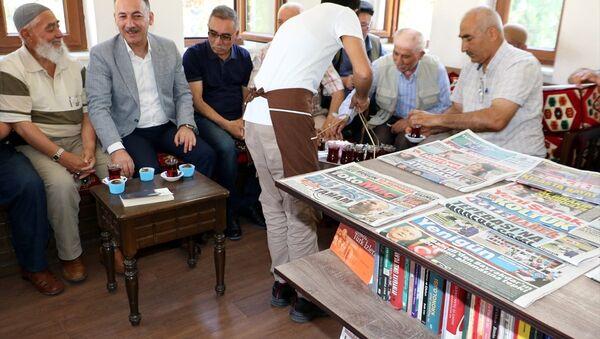 Kırıkkale'de Millet Kıraathanesi'ni 'cup cake' ile açıldı - Sputnik Türkiye