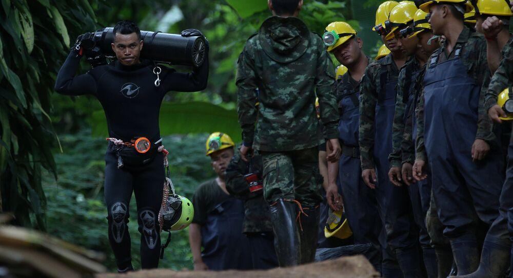 Tayland'daki Tham Luang mağara kompleksindeki kurtarma çalışmaları