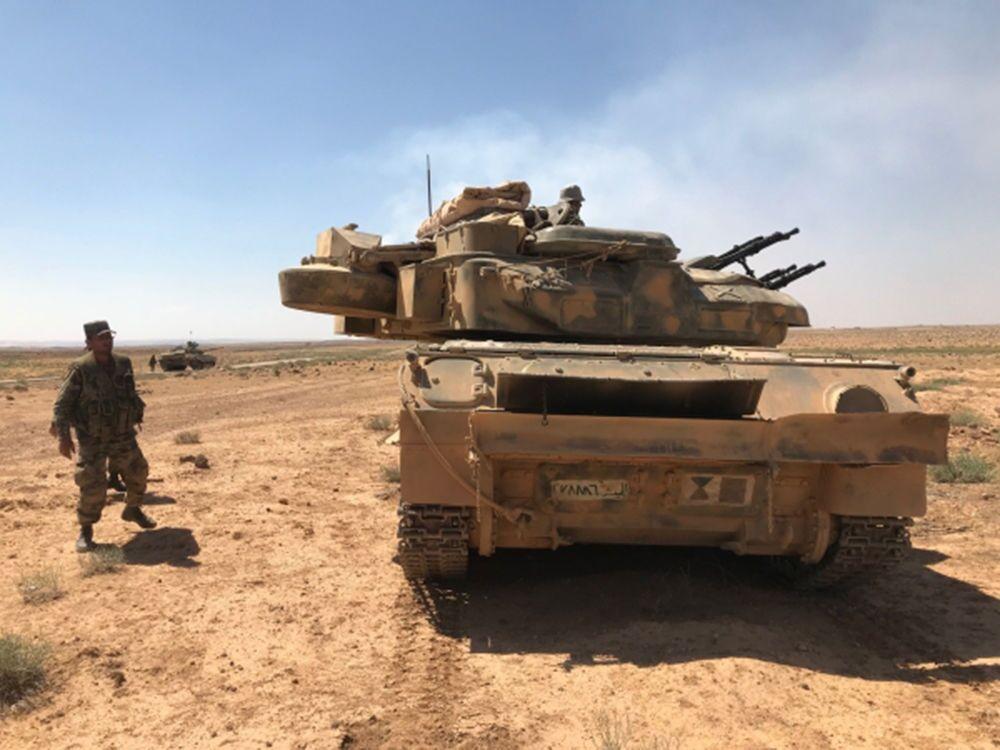 Suriye ordusu, Dera'da Ürdün sınırında