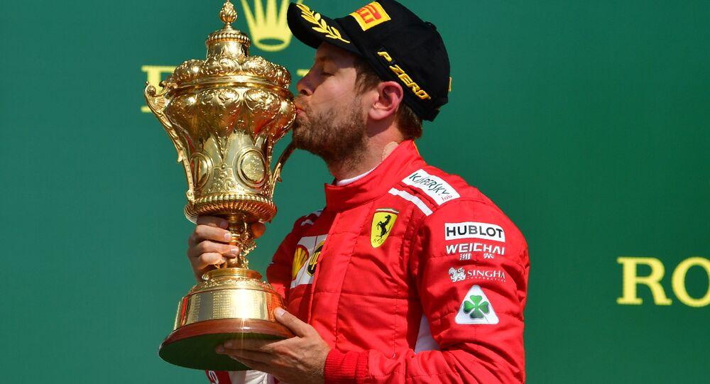 Ferrari takımının Alman pilotu Sebastian Vettel