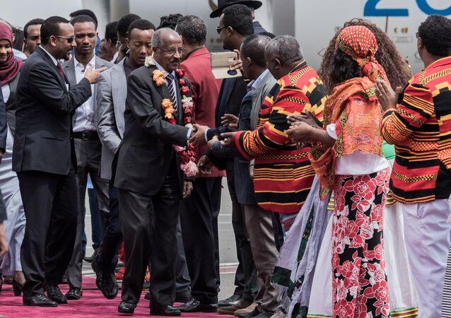 Eritre Dışişleri Bakanı ve Etiyopya Başbakanı