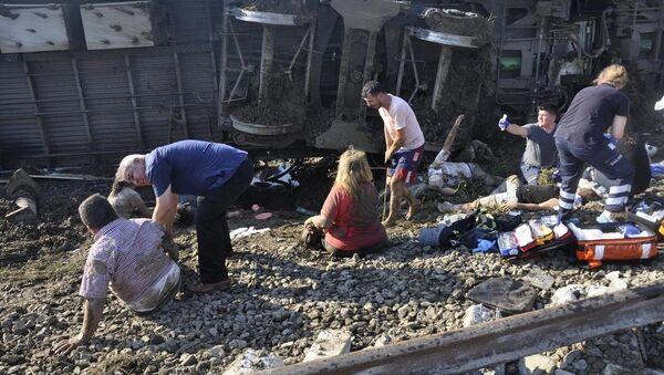 Tekirdağ, tren kazası - Sputnik Türkiye