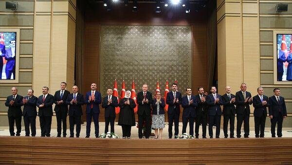 Recep Tayyip Erdoğan, yeni kabine - Sputnik Türkiye
