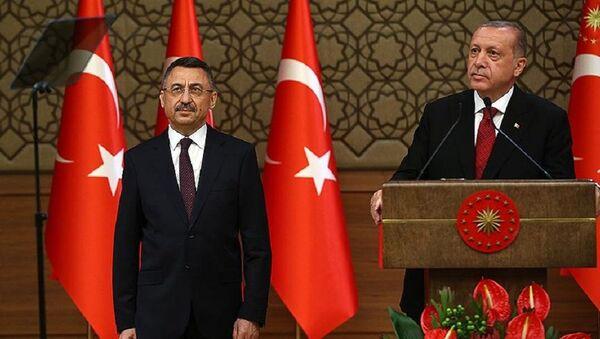 Fuat Oktay - Recep Tayyip Erdoğan - Sputnik Türkiye