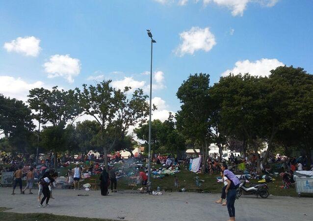 İstanbul, Suriyeliler, piknik