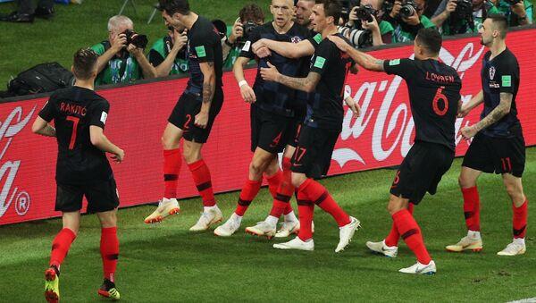 احتفال لاعبي كرواتيا بهدف التعادل - Sputnik Türkiye