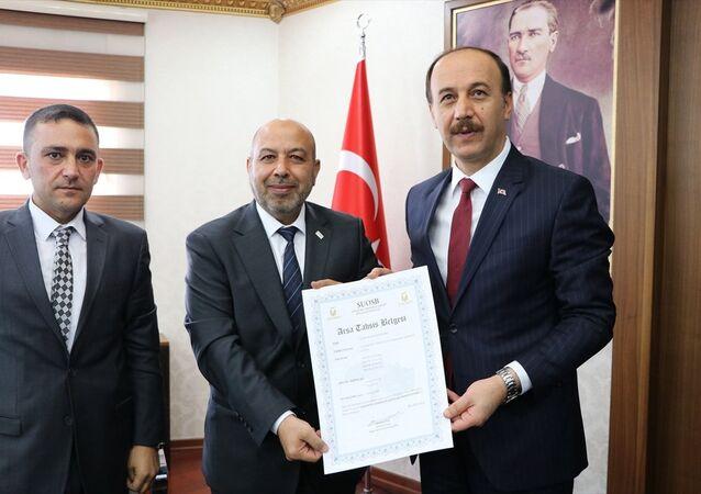 Gaziantep SİAD Yönetim Kurulu Başkanı Khaled Bablli ile Şanlıurfa Valisi Abdullah Erin